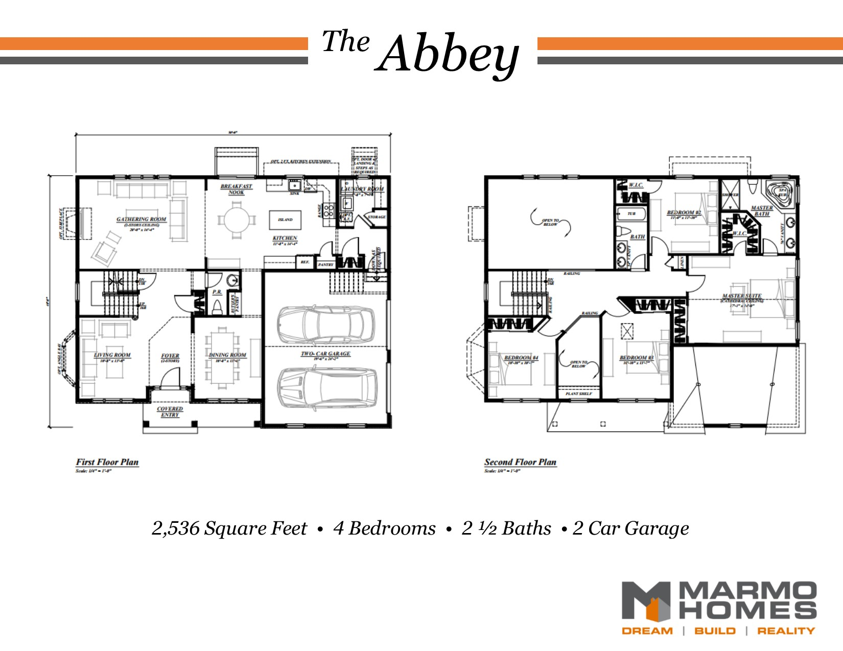 The Abbey Floor Plan - Marmo Homes
