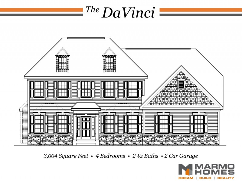 The DaVinci Front Elevation Provincial