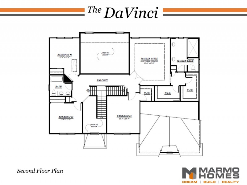 The DaVinci Second Floor Plan